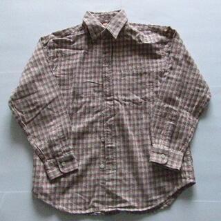 140 冬物 チェックシャツ 女の子