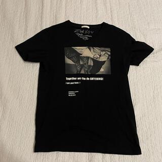 ジーユー(GU)のGU メンズ Tシャツ Vネック Sサイズ 217NINA コラボ(Tシャツ/カットソー(半袖/袖なし))