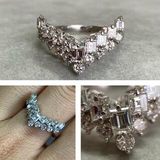 Pt900 1カラット  VSクラスの綺麗なダイヤモンドリング