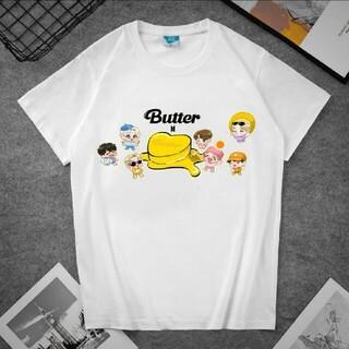 ボウダンショウネンダン(防弾少年団(BTS))のBTS 防弾少年団 BTS Butter Tシャツ ホワイト(Tシャツ(半袖/袖なし))