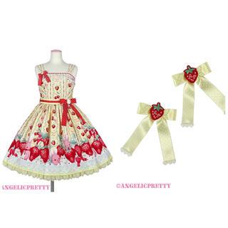 Angelic Pretty - Little Bunny Strawberry ジャンパースカート イエロー