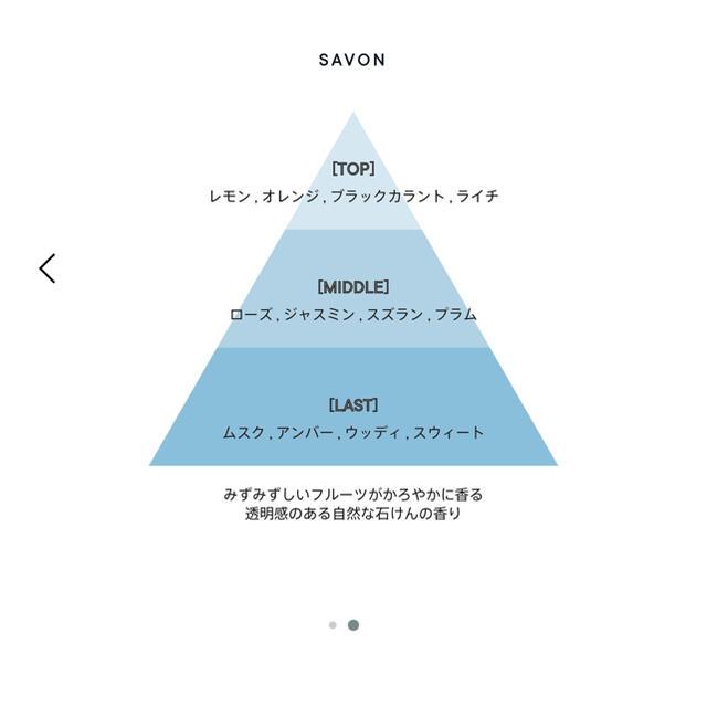 shiro(シロ)のshiro サボン 香水 ボディーミスト コスメ/美容の香水(香水(女性用))の商品写真