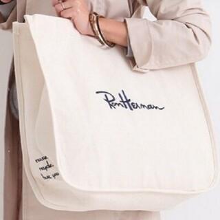 Ron Herman - RON HERMAN ★ロンハーマン LA限定 刺繍トートバッグ  クリーム色