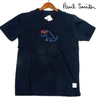 ポールスミス(Paul Smith)の新品 Paul Smith ポールスミス 紺 DOGプリント Vネック Tシャツ(Tシャツ/カットソー(半袖/袖なし))