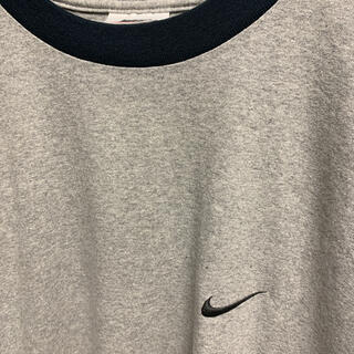 ナイキ(NIKE)のNIKE 90s銀タグ USA製 スモールスウッシュ ワンポイント刺繍ロゴ(Tシャツ/カットソー(半袖/袖なし))