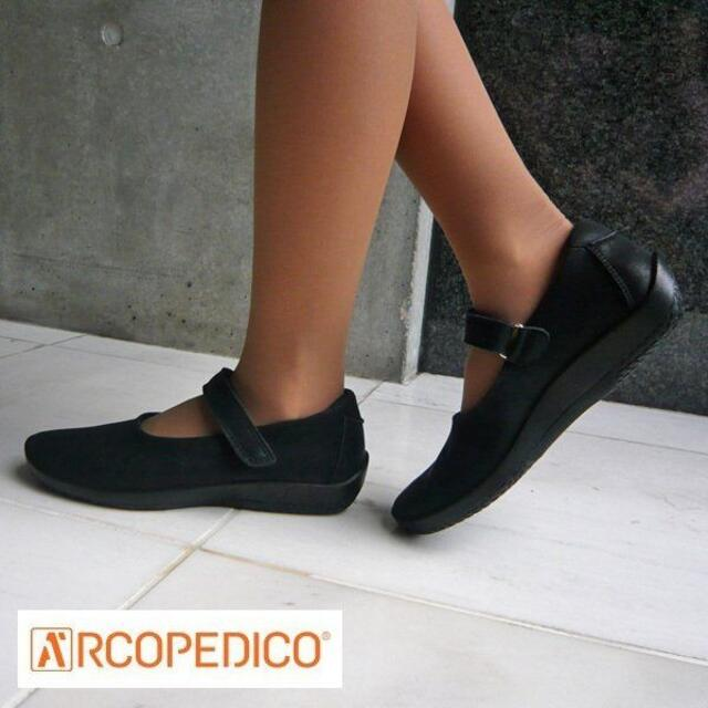 ARCOPEDICO(アルコペディコ)の【新品】アルコペディコ ファティマ ブラック 37(24cm) レディースの靴/シューズ(バレエシューズ)の商品写真