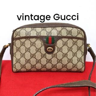 Gucci - 美品 レア!Gucci シェリーライン ビンテージショルダーバッグ 人気モデル
