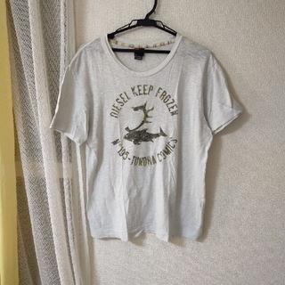 ディーゼル(DIESEL)のDIESEL 半袖Tシャツ グレー 美品(Tシャツ/カットソー(半袖/袖なし))