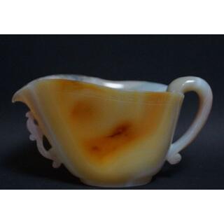 清朝 瑪瑙 メノウ 湯冷まし / 煎茶道具☆時代物☆(彫刻/オブジェ)