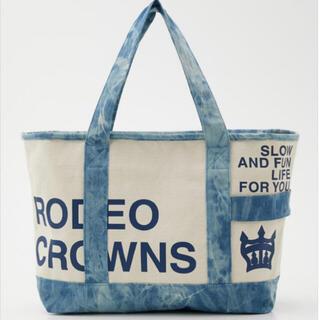 ロデオクラウンズワイドボウル(RODEO CROWNS WIDE BOWL)の新作 ロデオクラウンズ タイダイトートバッグ ブルーラスト1(トートバッグ)