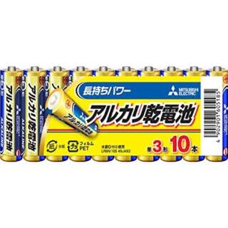 ミツビシデンキ(三菱電機)の三菱電機 アルカリ乾電池(シュリンクパック) 単3形 10本(その他)