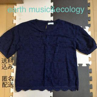 earth music & ecology - (152) earth music&ecology 半袖 レース ネイビー