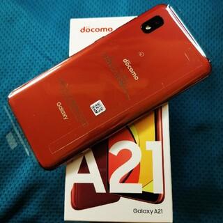 Galaxy - (新品未使用)ドコモ Galaxy A21 SC-42A Red