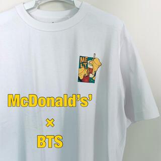 """防弾少年団(BTS) - BTS""""×McDonald's Butter"""" オリジナルTシャツ【L】"""
