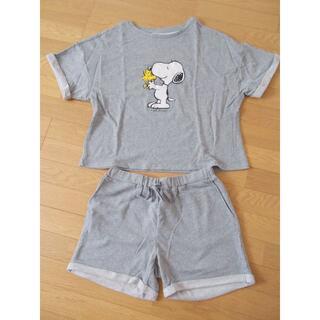 ジーユー(GU)のGU:スヌーピー ルームウェアパジャマ 半袖・ショートパンツセット(ルームウェア)