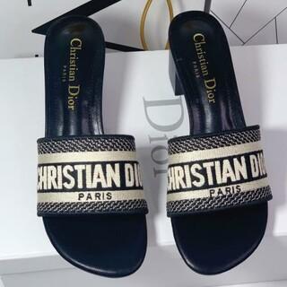 Christian Dior - 値下げ中Christian Dior  サンダル ブラック