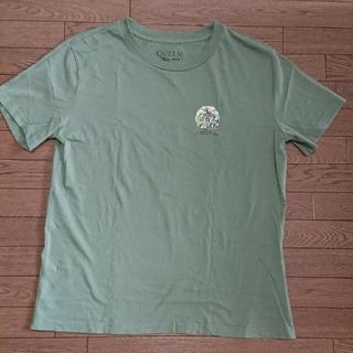 ジーユー(GU)のGU QueenTシャツ Lサイズ カーキ(Tシャツ(半袖/袖なし))