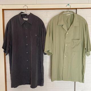 ジーユー(GU)のgu & 古着 オープンカラーシャツ 半袖シャツ セット(シャツ)
