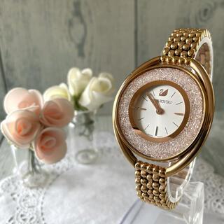 スワロフスキー(SWAROVSKI)の【希少】Swarovski  スワロフスキー 腕時計 ピンクゴールド(腕時計)
