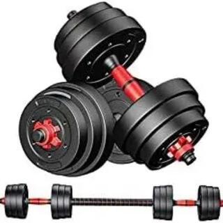 セメントダンベル 10kg×2個セット 20kg バーベルにもなる 高性能(トレーニング用品)