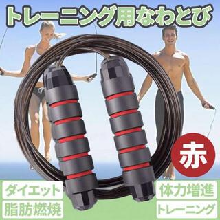 トレーニング 縄跳び レッド ダイエット 脂肪燃焼 運動 エクササイズ 室内(トレーニング用品)