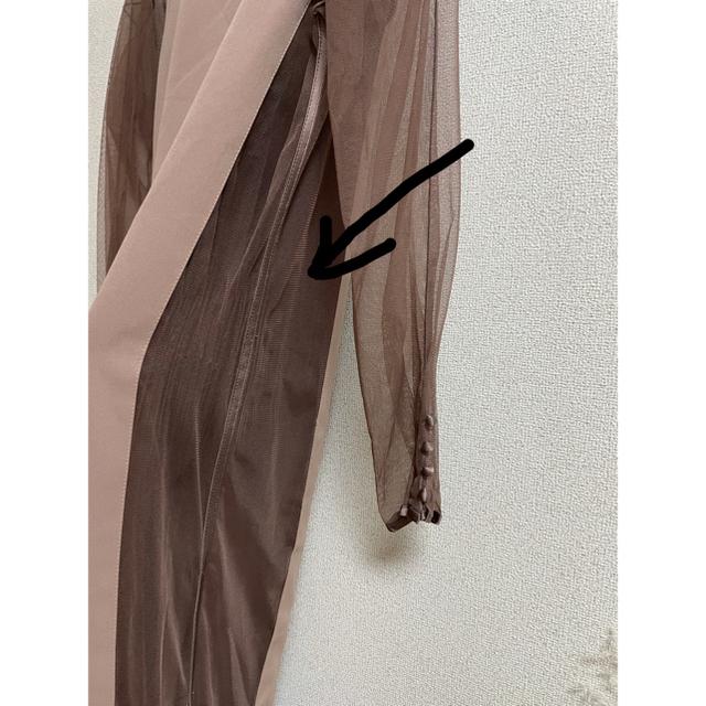 Ameri VINTAGE(アメリヴィンテージ)のAmerivintage TULLE DOCKING DRESS 結婚式 レディースのワンピース(ロングワンピース/マキシワンピース)の商品写真