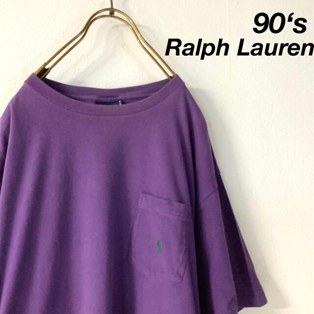 POLO RALPH LAUREN(ポロラルフローレン)の90's POLO by Ralph Lauren シングルステッチ ポケt メンズのトップス(Tシャツ/カットソー(半袖/袖なし))の商品写真