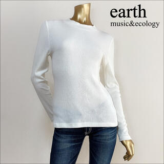 earth music & ecology - earth music & ecology リブ ハイネック トップス*MUJI