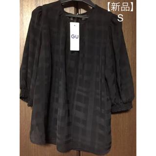 ジーユー(GU)のgu シアーチェックブラウス (7分袖) 2枚セット(シャツ/ブラウス(長袖/七分))
