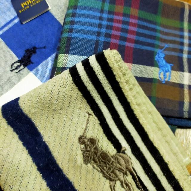 POLO RALPH LAUREN(ポロラルフローレン)のラルフローレン ハンカチ5枚 メンズのファッション小物(ハンカチ/ポケットチーフ)の商品写真