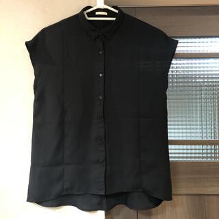 ジーユー(GU)のGU 半袖シャツ ブラック(シャツ/ブラウス(半袖/袖なし))