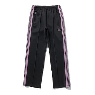 Needles - Needles蝶刺繍側紫色ウェビングレジャー運動パンツ