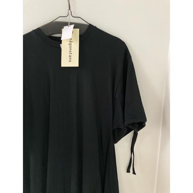 ENFOLD(エンフォルド)の美品 21ss nagonstans 立体ドレープDress 黒 レディースのワンピース(ロングワンピース/マキシワンピース)の商品写真