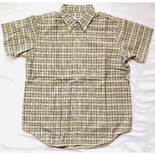 ユニクロ(UNIQLO)の【ユーズド品】【キッズ140】ユニクロ 半袖チェックシャツ ブルー系(その他)