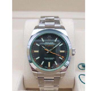 ロレックス(ROLEX)のロレックス  ミルガウス 自動巻メンズ 腕時計(金属ベルト)