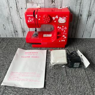 ハローキティ(ハローキティ)のJANOME ジャノメ コンパクトミシン Model525 キティ 赤 レッド(その他)