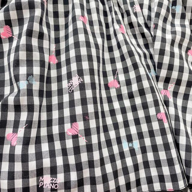mezzo piano(メゾピアノ)の新品メゾピアノ ギンガムチュニック100 キッズ/ベビー/マタニティのキッズ服女の子用(90cm~)(Tシャツ/カットソー)の商品写真