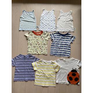UNIQLO - ユニクロ 無印良品 Tシャツ トップス 肌着 80