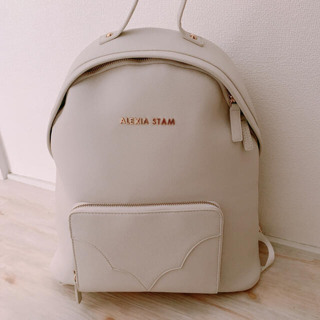 ALEXIA STAM(アリシアスタン)のアリシアスタン リュック 新品未使用 ホワイト レディースのバッグ(リュック/バックパック)の商品写真
