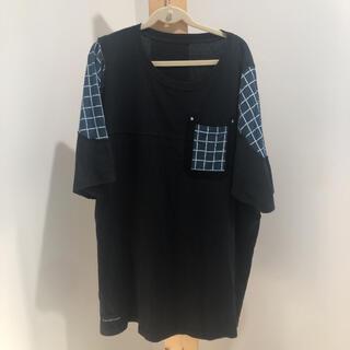 elephant tribal fabrics Tシャツ 切り替え チェック(Tシャツ/カットソー(半袖/袖なし))