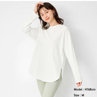 ジーユー(GU)のGU ラウンドヘムロングスリーブT S(Tシャツ(長袖/七分))