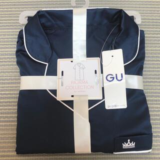 ジーユー(GU)の新品未使用 GU パジャマ ネイビー(パジャマ)
