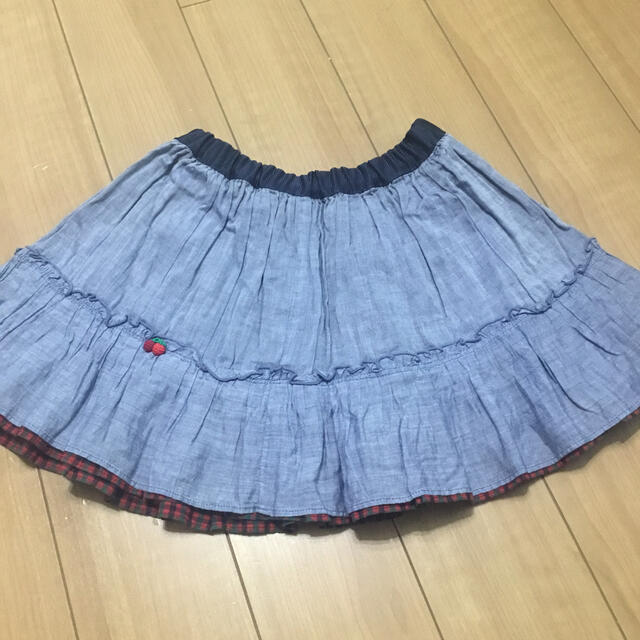 familiar(ファミリア)の専用 ファミリア リバーシブル スカート キッズ/ベビー/マタニティのキッズ服女の子用(90cm~)(スカート)の商品写真