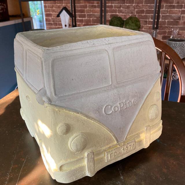 車型陶器鉢 ハンドメイドのフラワー/ガーデン(プランター)の商品写真