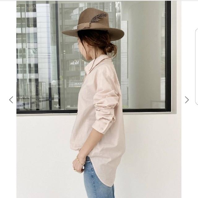 L'Appartement DEUXIEME CLASSE(アパルトモンドゥーズィエムクラス)のCTN LAWN SHIRTS ピンク レディースのトップス(シャツ/ブラウス(長袖/七分))の商品写真