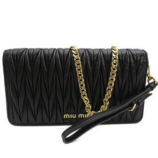 miumiu - ミュウミュウ  チェーンウォレット  マテラッセ 5ZH029  ブラッ