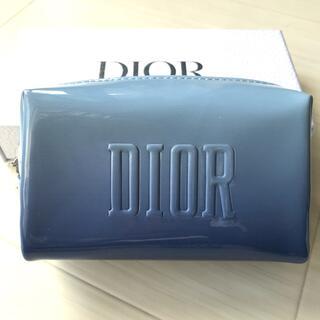 ディオール(Dior)のディオール Dior ポーチ ブルー ノベルティ 非売品 スター ロゴ チャーム(ポーチ)