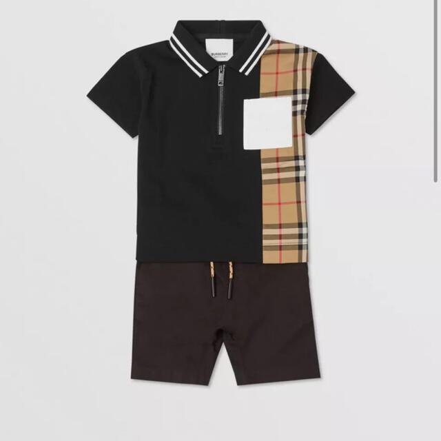 BURBERRY(バーバリー)のBurberry コットンジップフロントポロシャツ キッズ/ベビー/マタニティのキッズ服男の子用(90cm~)(Tシャツ/カットソー)の商品写真