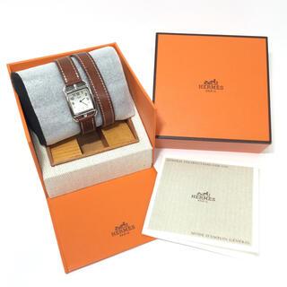 Hermes - 正規美品!エルメス ケープコッド レディース 腕時計 クォーツ 二重ベルト
