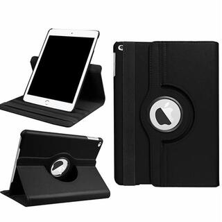 iPad 5世代/6世代/Air/Air2 ブラック 360度回転 ケース(iPadケース)
